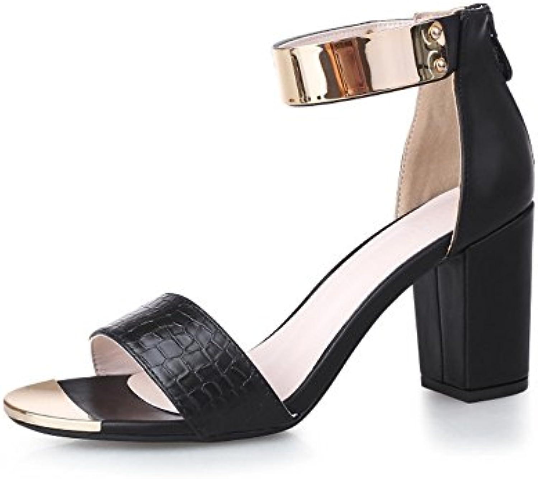 Chris-T Chunky Tacones para Mujer con Tachuelas Zapatillas de Tacón bajo Sandalias con Tachuelas Abiertas Zapatillas... -