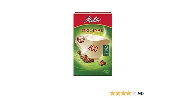 Naturbraun 40 Stück Melitta Filtertüten 101 Aromapor Papier