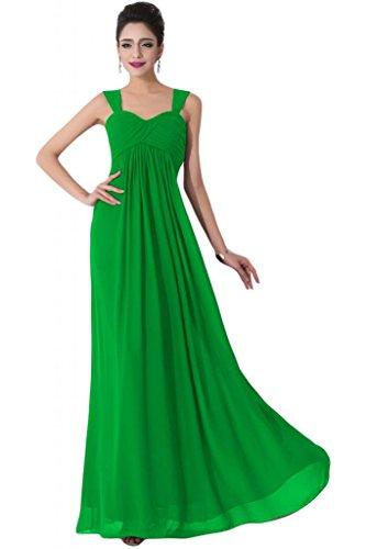 Sunvary Spaghetti Cinghia Empire vita Pron Evening Dresses Pageant Gowns Verde mela