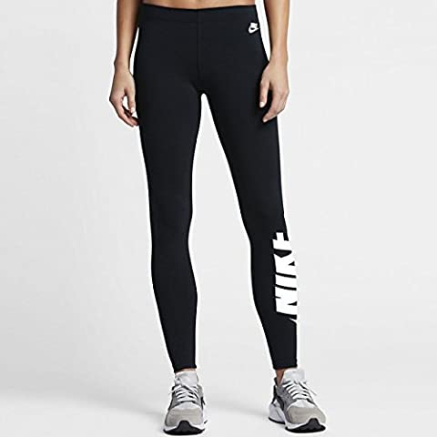 Nike W Nsw Lggng Irreverent Leggings für Damen, Schwarz (Black / White), S