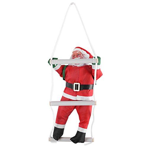 Okby ❄santa claus - giocattolo di babbo natale rampicante, decorazione per l'ornamento di appeso per interni ed esterni, inverno.❄