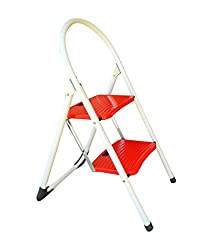 Synergy - 2 Step Folding Ladder with Wide Steps (SY-L4) - For Home & Kitchen Use
