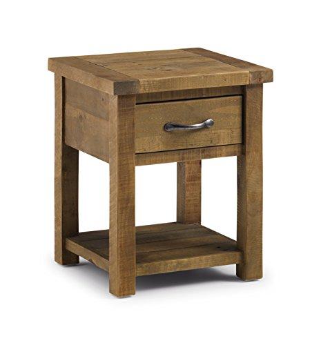 Distressed Couchtische (Julian Bowen Aspen sägerau Lampe Tisch mit Schublade, Holz, wieder Kiefer)
