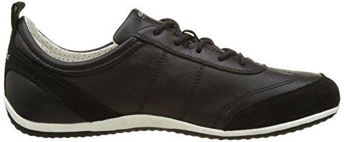 Geox Damen D Vega A Sneakers Schwarz (Blackc9999)