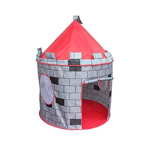 Tente de Juego de los Niños Gris Patrón de la Pared Yurts Redonda Juguetes de Interior y al Aire Libre Tiendas (Sólo una Tienda)