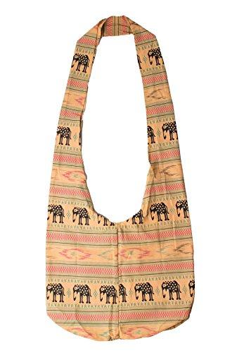 Lofbaz Mujer Elefante Spiral Crossbody Algodón Boho Bolsa Elephant Morado Talla única