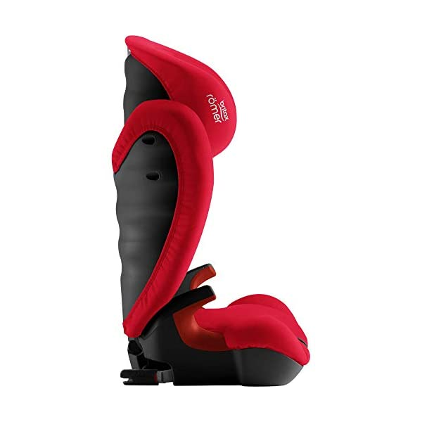 Britax Römer KIDFIX SL Black Series Group 2-3 (15-36kg) Car Seat - Fire Red Britax Römer High back booster protection Easy adjustable, ergonomic headrest Adjustable v-shaped backrest 6