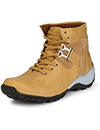 Red Rose Men's Synthetic Leather Boots & Casual Shoes And Sneakers Tan Shoes (Tan)