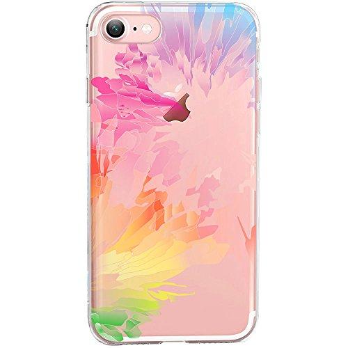 GIRLSCASES® | iPhone 8 / 7 Hülle | Im Macaron Girly Look aus Silikon | Fashion Case transparente Schutzhülle Bunter Farbmix 2