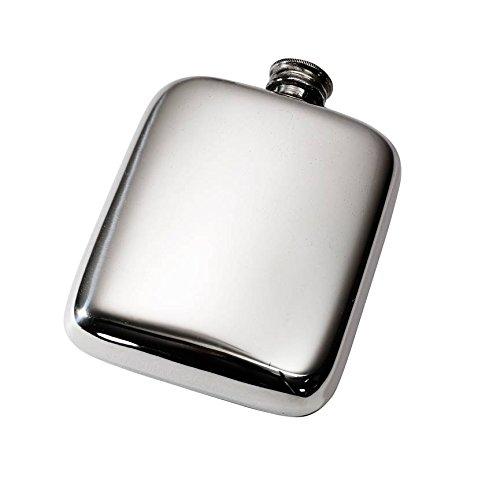 Wentworth Pewter-113,4g Plain Zinn Pocket Flachmann Plain Zinn