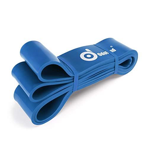 Odoland bande elastiche resistenza,blu pull up bands, elastici fitness in gomma naturale, bande elastiche fitness per rafforzare la forza muscolare, allenamento di resistenza, terapia fsica