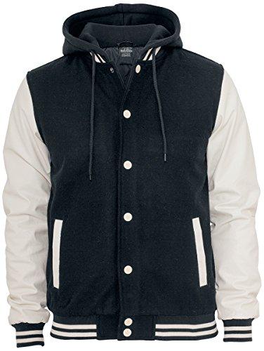 Urban Classics Hooded Oldschool College Jacket, Chaqueta para Hombre Urban Classics