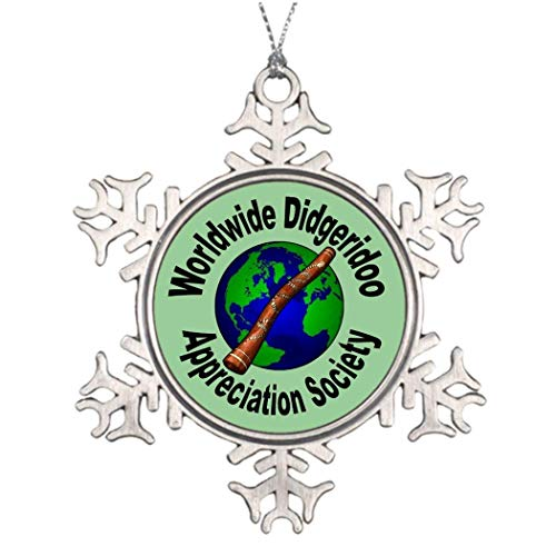 Worldwide Didgeridoo Appreciation Society Weihnachts-Schneeflocken-Ornament, 2018 lustiger Weihnachtsbaum, Dekoration Andenken