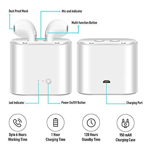 Bluetooth-Headset, Stereo-Headset, Das mit dem Samsung Galaxy S7 S8 Plus, iPad/Android-Smartphone-Sport-Headset kompatibel ist… - 4