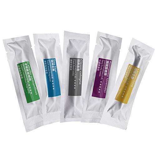 Bastoncini di ricambio per diffusore auto, profumati, adatti per diffusori a clip sulle bocchette di ventilazione, in 5 diversi profumi, per aromaterapia e rimuovere gli odori 5 Pcs