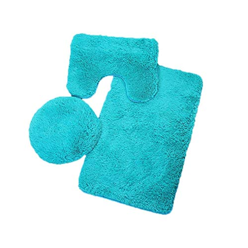 Soft Kostüm Gelb - Bobopai Bath Mat + Contour Mat + Toilet Lid Cover Soft Non Slip Bathroom Rug 3 Piece Sets Light Blue