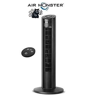 Air Monster® Towerventilator | mit Fernbedienung | Höhe: 80 cm | Turmventilator mit Oszilator-Funktion | Timer