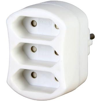 weiß extra flach Kopp Euro 3-fach-Adapter