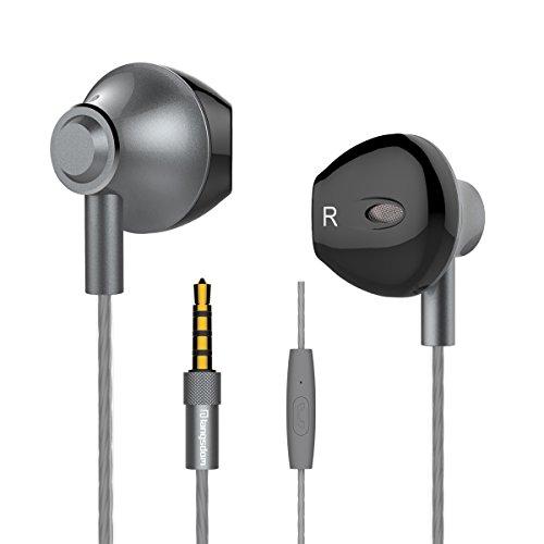 Langsdom Auriculares F9 Powerful Bass con Micrófono para iPhone, iPad, Samsung, Android, MP3 y Reproductores MP4 (con micrófono, Color Gris Titanio)