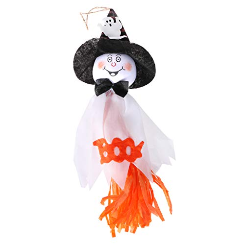 (JAGENIE Cute Ghost Hanging Hangtag Halloween Dekoration Kinder Lustige Scherzartikel Requisiten Weiß)