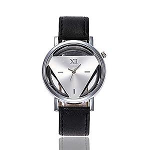 Cramberdy Uhr Damen Uhr Herren Armbanduhr Frauen Armbanduhr MäDchen Mode Klassisch Unisex Uhr Damenuhren Herrenuhren Leder Band Analoge Quarz Armbanduhr