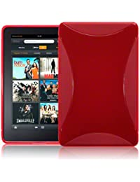 Terrapin Coque en gel TPU Housse Etui peau pour Amazon Kindle Fire Tablette – Rouge