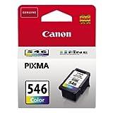 Original Tinte passend für Canon Pixma MG 2550 s Canon CL546, CL-546 8289B001 - Premium Drucker-Patrone - Cyan, Magenta, Gelb - 180 Seiten - 8 ml