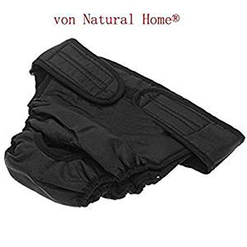 FACILLA® Hunde Hündinnen Schutzhose Läufigkeit Unterhose Unterwäsche Läufig XL Schwarz IN