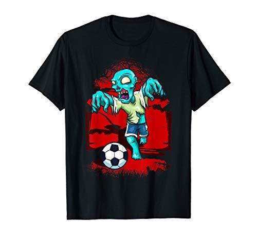 Niedliche Kostüm Kinder Zombie - Zombie Fußballspieler Halloween Horror Gruselig lustiges T-Shirt