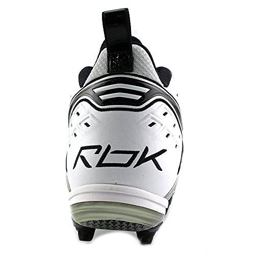 Reebok NFL THORPE II MID D2 Leder Klampen White/Silver/Black