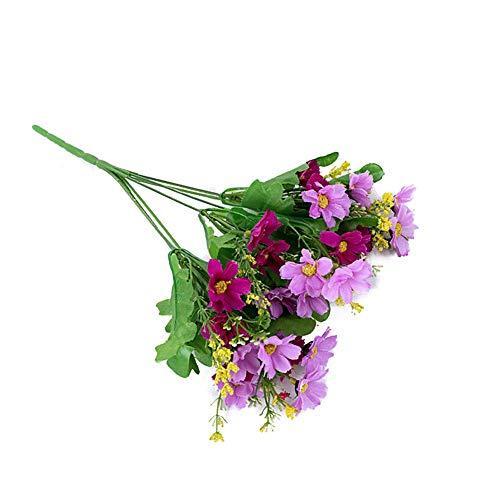 YIDAINLINE Künstliche Blumen Bouquets Gefälschte Mini Daisy Flower 7 Zweige 28 Heads Silk Floral für Office Home Hochzeitsdekoration