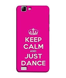 Fuson Designer Back Case Cover for Vivo X3S (Keep Calm Dance Crown)