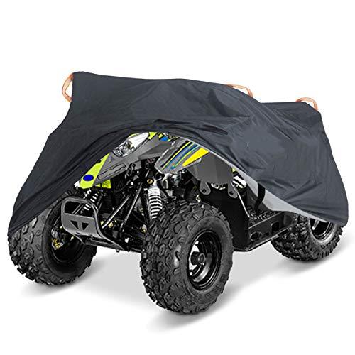 QICHE Autoabdeckung Universal Fahrradabdeckung Wasserdicht Motorrad Roller Fahrzeug Kart Motorrad Abdeckung Ml XL XXL XXXL Schwarz Tarnung
