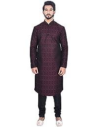 Manyavar Men's Blended Kurta & Churidar Set (S952347)