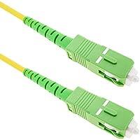 Cablematic - Cable de fibra óptica SC/APC a SC/APC monomodo simplex 9/125 de 3 m