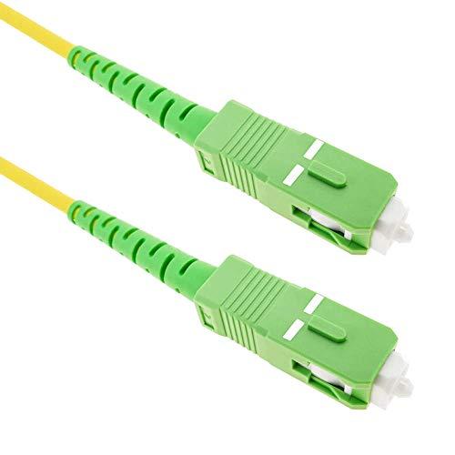 Cablematic - Cable de fibra óptica SC/APC a SC/APC monomodo simplex 9/125 de 3 m [Francia]
