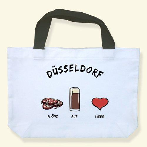 "'Borsa per la spesa ""Düsseldorf: flönz Alt-Amore-come regalo per Düsseldorfer & fan della metropoli AM RHEIN Düsseldorf, ideale come Souvenir o regalo"