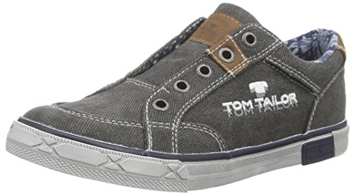 Tom Tailor Kids Tom Tailor Kinderschuhe, Jungen Slipper, Grau (coal), 34 EU
