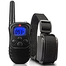 TANAINA 330 Yardas de Sonido y Vibración Collar de Adiestramiento para Perro, Recargable y Impermeable, Ninguna Función de Descarga Eléctrica