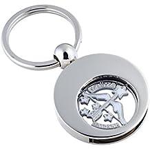 Llavero con moneda para carro de la compra, signo del zodiaco Sagitario