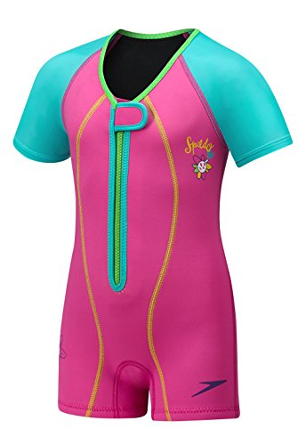 Speedo Kinder UPF 50 + beginnen zu schwimmen Thermo-Badeanzug, Saphir Blau, 2 Hoch, Uv Thermal Suit, beere