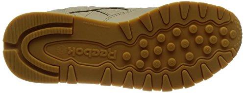 Reebok Damen Classic Leather Met Diamond Laufschuhe Beige (Oatmeal/chalk/gum)
