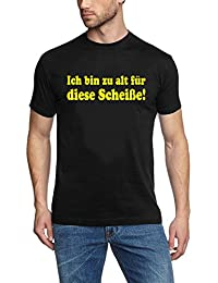 """Coole-Fun-T-Shirts Men's T-Shirt Bruce Willis """"Ich bin zu alt für diese Scheiße"""" (""""I'm too old for this shit"""")"""