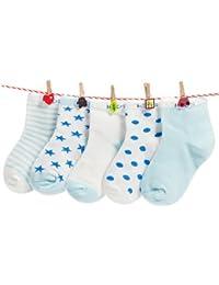 DELHITRADERSS® Cotton Winter Baby Kids Socks- 12-30 Months - Pack of 5 Pairs(Blue)