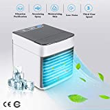 U&X 3-in-1 Personal Space Air Cooler,USB Portable Arctic Mini Air Conditioner,Nano Spray,Water Cooled Ice Air Conditioner,Three Adjustable Wind Speeds,Suitable for Bedroom,Living Room,Office,Kitchen