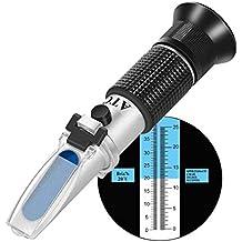 W-Unique Refractómetro de Vino, Refractómetro de Mano con Alcohol, con ATC para