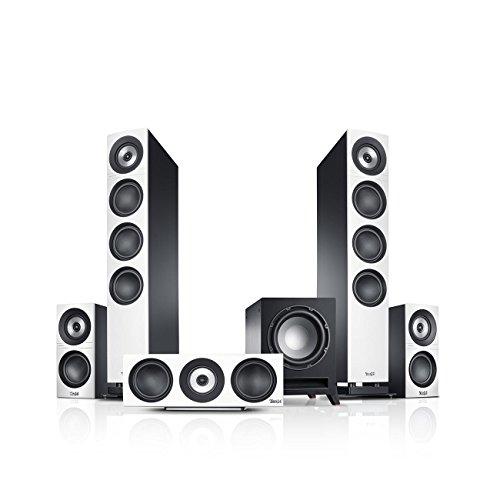 Teufel Definion 3 Surround 5.1-Set Weiß/Schwarz Heimkino Lautsprecher 5.1 Soundanlage Kino Raumklang Surround Subwoofer Movie High-End HiFi