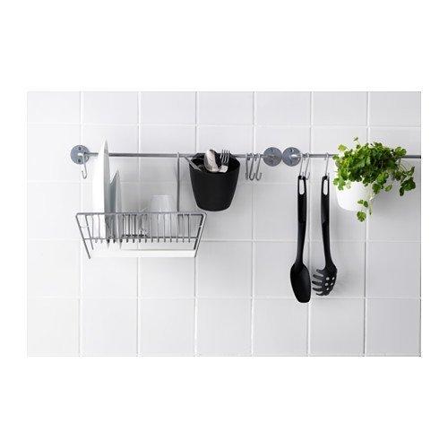 Ikea Bygel Barre Support De Cuisine Pour Pots à Ustensiles Avec 10