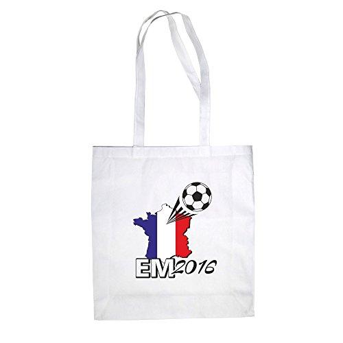 Borsa In Cotone - Euro 2016 - Francia - Dal Reparto Camicia Fucsia-nero
