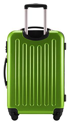 HAUPTSTADTKOFFER® 2er Hartschalen Kofferset · 2x Koffer 74 Liter (63 x 42 x 28 cm) · Hochglanz · TSA Zahlenschloss · APFELGRÜN Apfelgrün